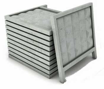Забор железобетонный ПО-2М (с фартуком)