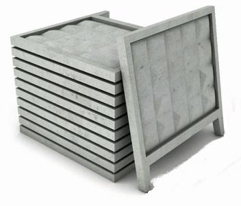 Забор железобетонный П-6В (с фартуком)